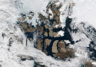 The Northwest Passage as it appeared on August 31, 2015. Courtesy NASA.