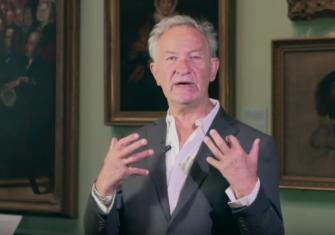 Simon Schama presenting 'Faces of Britain'.