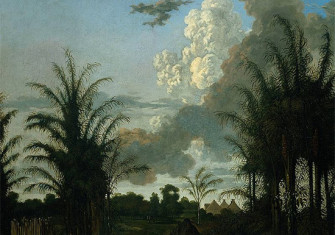 A plantation in Suriname by Dirk Valkenburg (1707?)