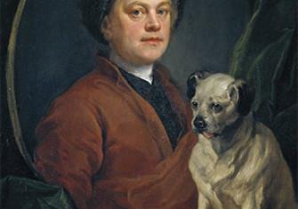 William Hogarth, Painter and his Pug, 1745