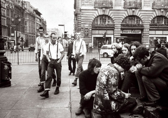 Skinheads, Piccadilly Circus, 1969.