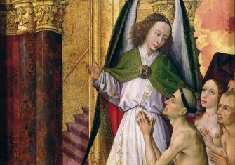 The Good being led to Heaven, detail from The Last Judgement, by Rogier van der Weyden, c.1451 © Bridgeman Images.