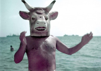 Pablo Picasso wearing a bull mask, Vallauris, France, 1949 © Gjon Mili/Time & Life/Getty Images