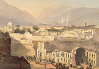 Lithograph of Kandahar by Lieutenant James Rattray, 1848.