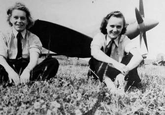 Spitfire pilots Mary Ellis (left) and Joan Hughes