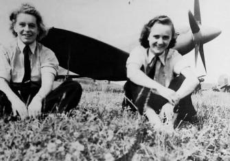 Spitfire pilots Mary Ellis (left) and Joan Hughes
