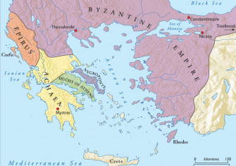 The Byzantine Empire and the 'Romania' of the Peloponnese, c.1250