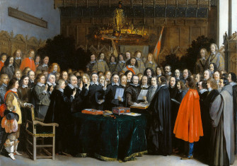 Ratification of the Peace of Münster (Gerard ter Borch, Münster, 1648).