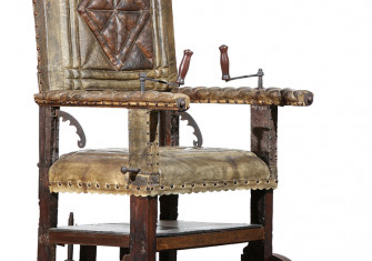 Wheelchair of Sir Thomas Fairfax, parliamentarian commander-in-chief