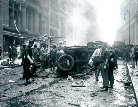 Aftermath of the Wall Street bomb, 16 September 1920. New York Daily News/Getty Images.