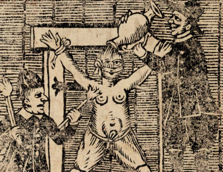 Detail of an illustration from 'A true relation of the unjust, cruel and barbarous proceedings against the English at Amboyna', published 1655. © British Library Board/Bridgeman Images.