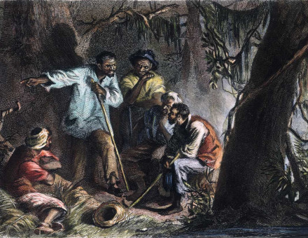 Prophet: Nat Turner with his allies, engraving, 1863, after Felix Darley.