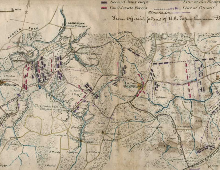 The Pursuit of the rebel army, April 6th-8th, 1865, and Battle of Sailor's Creek. Library of Congress.