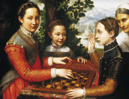 The Chess Game (Portrait of the artist's sisters playing chess)