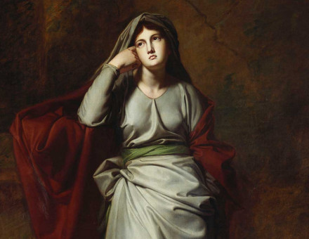 Melancholy: A Female Figure, by George Romney, 18th century © Bridgeman Images.