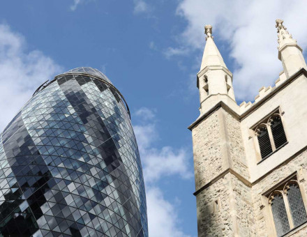 St Katherine Cree and 30 St Mary Axe.