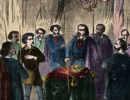 Illuminati reception, 19th-century illustration.