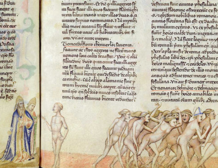 The Sodomites from Dante's Divine Comedy, Italian, 14th century © Bridgeman Images.