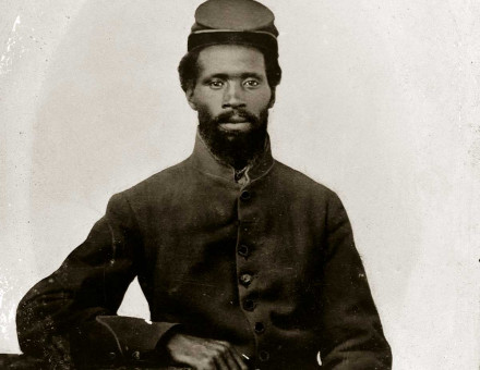 Soldier in the Union army, 1861 © Minnesota Historical Society/Getty Images.