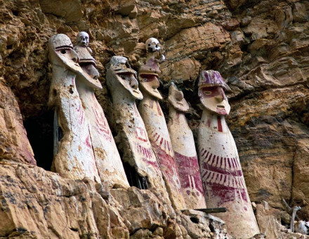 Chachapoya sarcophagi, Peru.