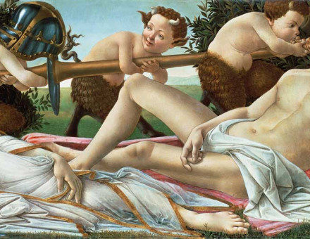 Venus and Mars, by Sandro Botticelli, c.1485, National Gallery, London.