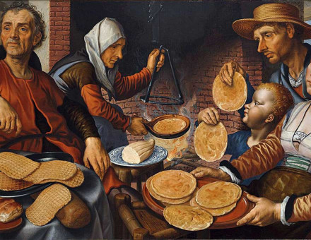 The Pancake Bakery, 1560, by Pieter Aertsen.