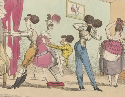 Dandies and Dandizettes dressing for the Easter Ball, 1819