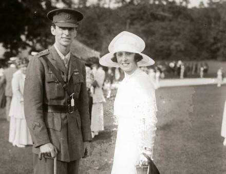 Lord George Wellesley with Louise FitzGerald, former wife of his brother, Richard, c.1918.