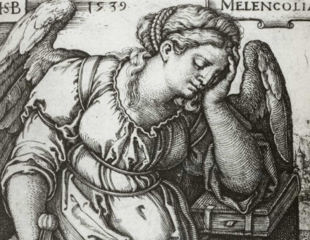 Melancholia. Engraving by Sebald Beham, 1539.