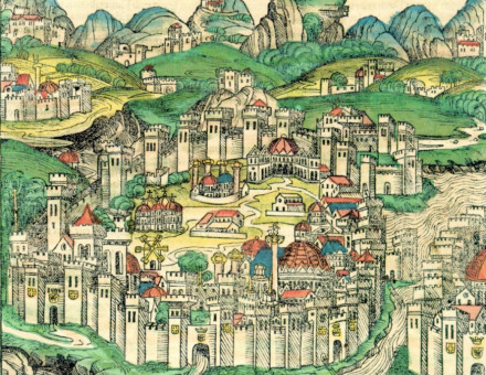 Page depicting Constantinople in the Nuremberg Chronicle published in 1493
