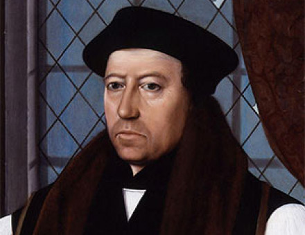 Thomas Cranmer, portrait by Gerlach Flicke, 1546.