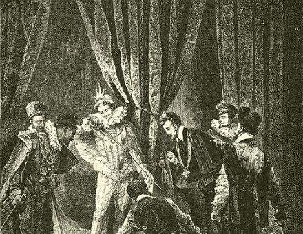 'Henry III and the Murder of Guise', December 23rd,  1588, from Guizot's A Popular History of France, c.1885, which disparages Henry's reign.