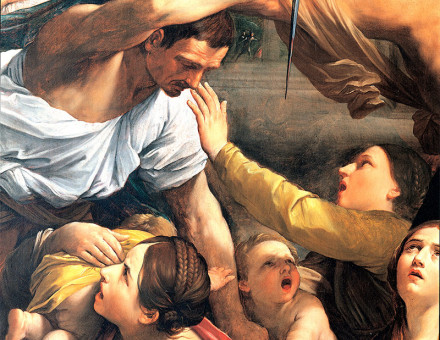 Detail from Massacre of the Innocents, Guido Reni, 1611.