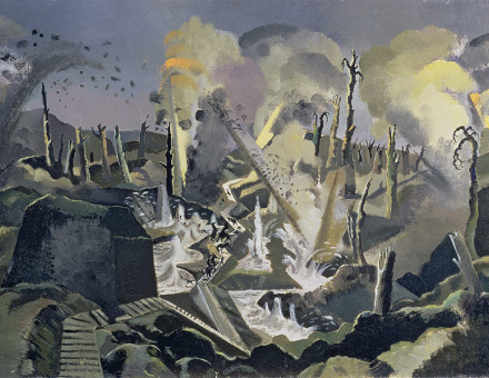 Brush with death: The Mule Track, by Paul Nash, 1918.