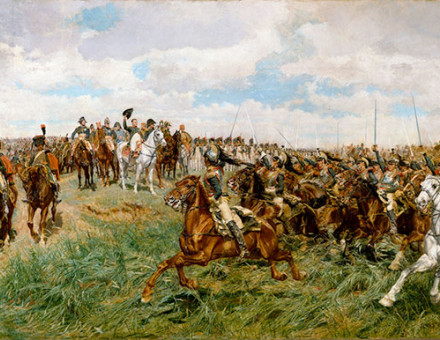 Charge of the French Cuirassiers at Friedland (1807) - by Ernest Meissonier