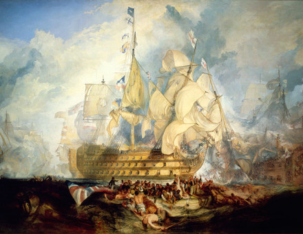 The Battle of Trafalgar, 21 October 1805, J.M.W. Turner, 1823-4