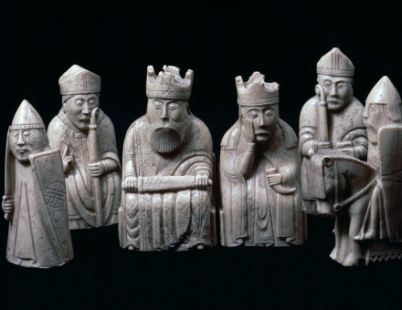Inspiring figures: the Lewis Chessmen, c.1150-1200.
