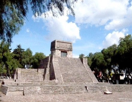 The Aztec Pyramid at St. Cecilia Acatitlan, State of Mexico