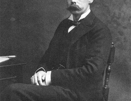 Portrait photograph of Lord Randolph Churchill taken in 1883.