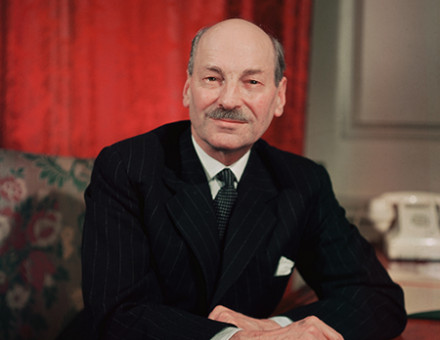 Citizen Clem: Attlee during his time as prime minister, 1945-51. © Hulton/Getty Images.