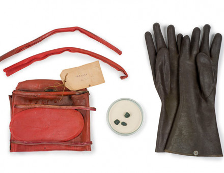 The Acid Bath Murderer: objects relating to the murder of Mrs Olive Durand-Deacon by John Haigh, 1949 © Museum of London