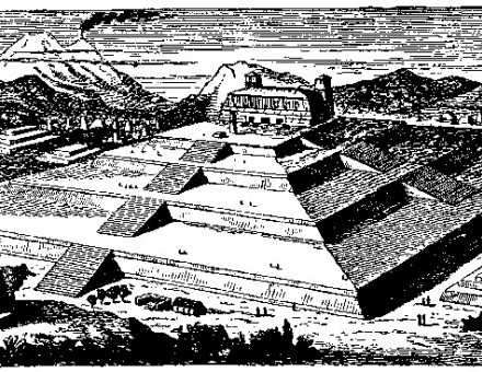 Artist's impression of the pyramid at its height