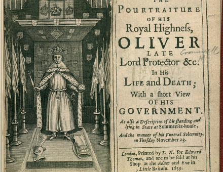 The Pourtraiture of His Royal Highness, Oliver, 1659.