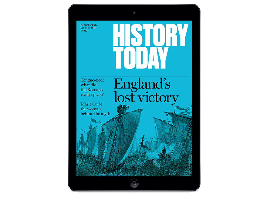 The November 2017 issue on a tablet device.