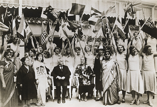 The Women's International Congress in Tokyo in the 1930s, with its president, the German foreign minister. Corbis/Underwood & Underwood