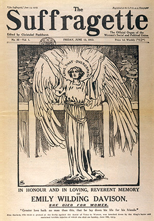 'The Suffragette' of June 1913, dedicated to the memory of Emily Davison