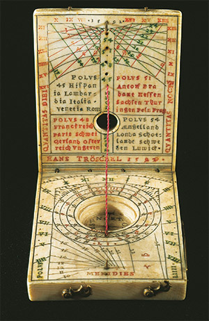 Time's shadow: ivory pocket sundial by Hans Troeschel, Germany, 1592. AKG Images/De Agostini Picture Library