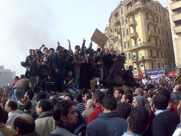 Demonstrators on Army Truck in Tahrir Square, Cairo, January 2011. Photo / Ramy Raoof