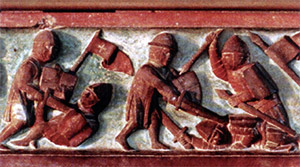 Lithuanians fighting with Teutonic Knights (Bas-Relief)