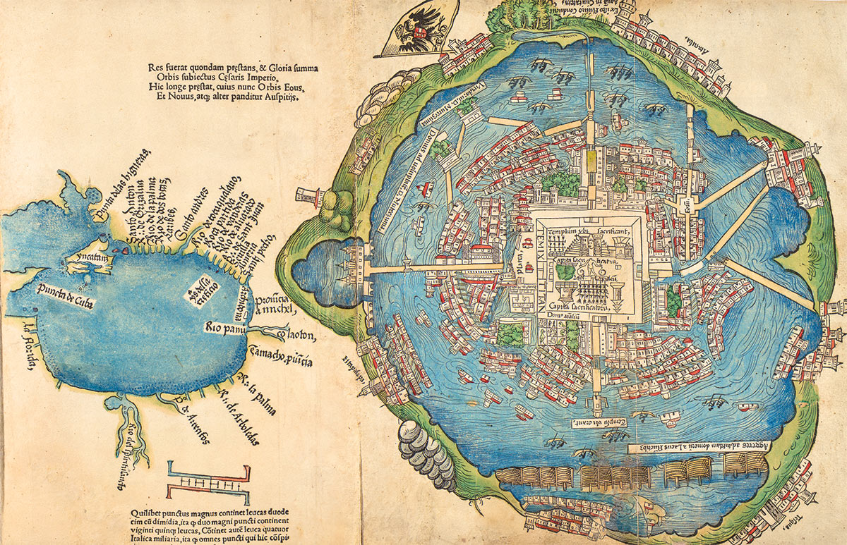 Aztec Empire World Map.The Map Tenochtitlan 1524 History Today